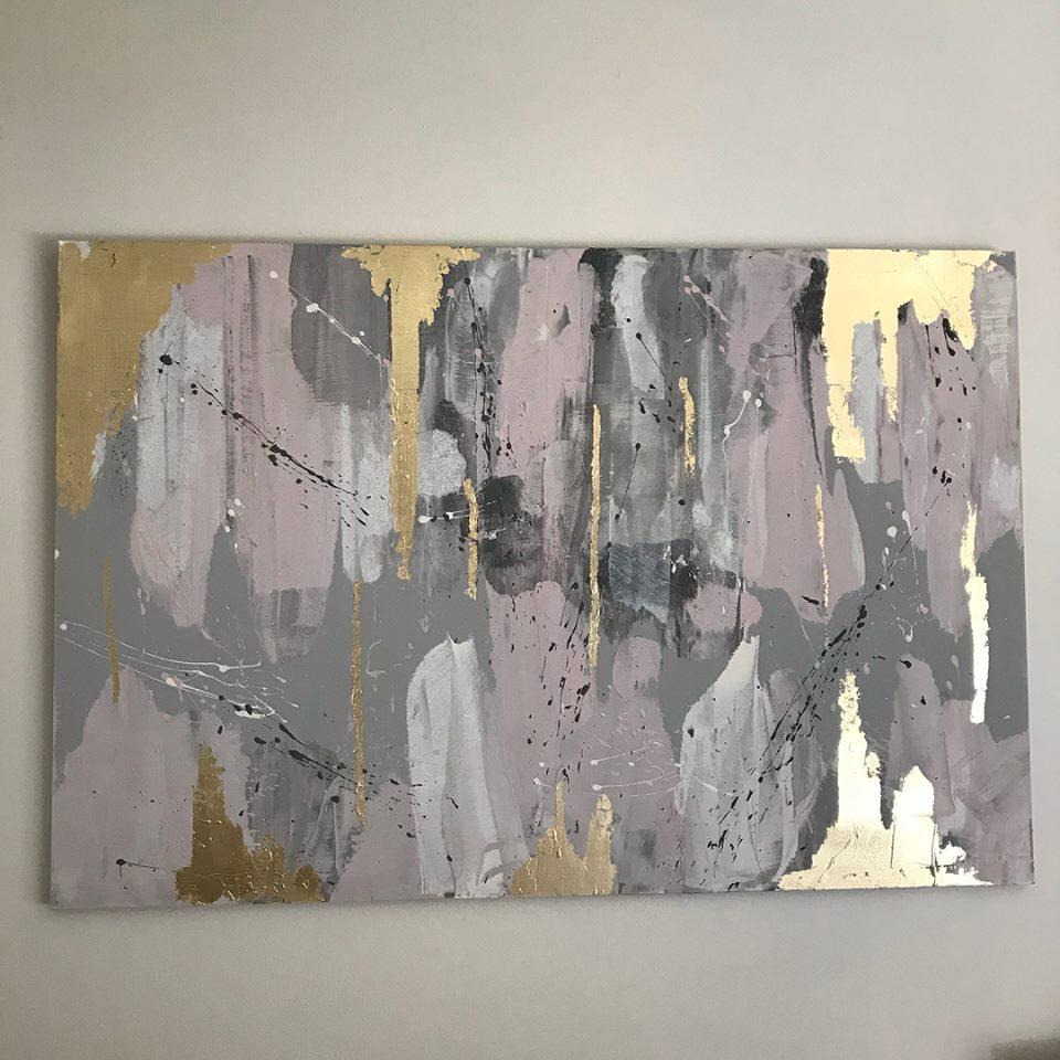 Hand Made Modern Art On Canvas